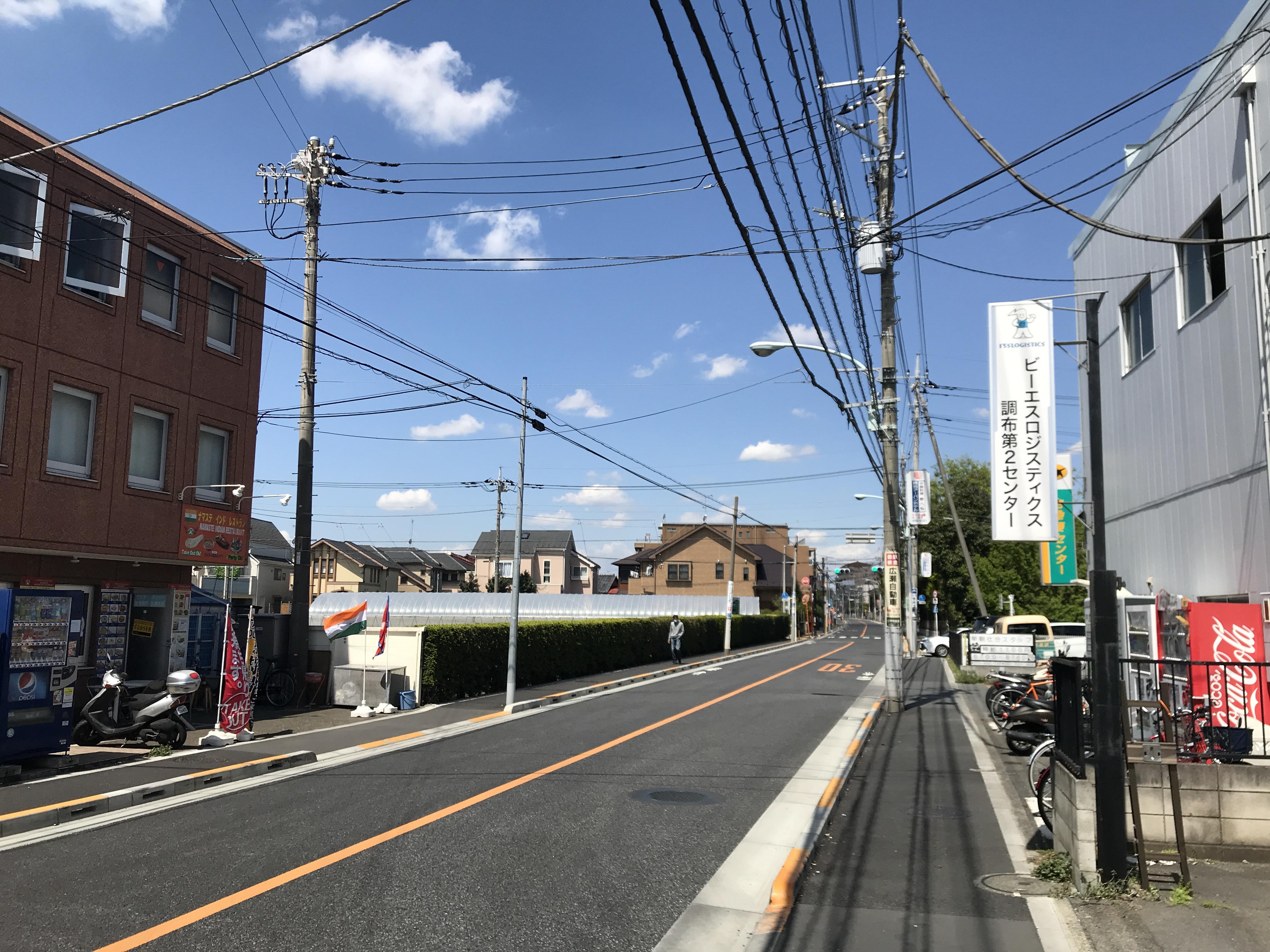 飛田給駅から病院まで歩く。